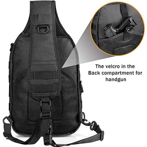 G4Free Tactical Backpack 7 G4Free Tactical Sling bag and Big version Sling Backpack for Concealed Carry