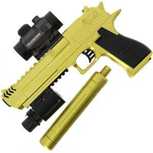 GELSOFT GelSoft Pistol 1 GELSOFT Water Gell Ball Crystal Blaster Pistol Automatic Rapid Fire Gold Eagle Gun