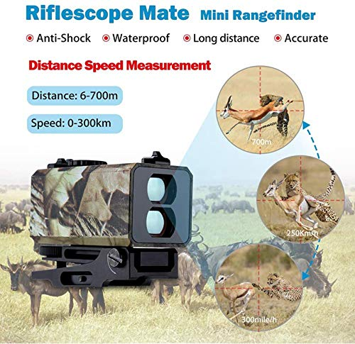 TTHU Rifle Scope 4 Tactical Outdoor Hunting Rangefinder Rifle Scope Sight Target Riflescope Mate Distance Meter 700M with Rail
