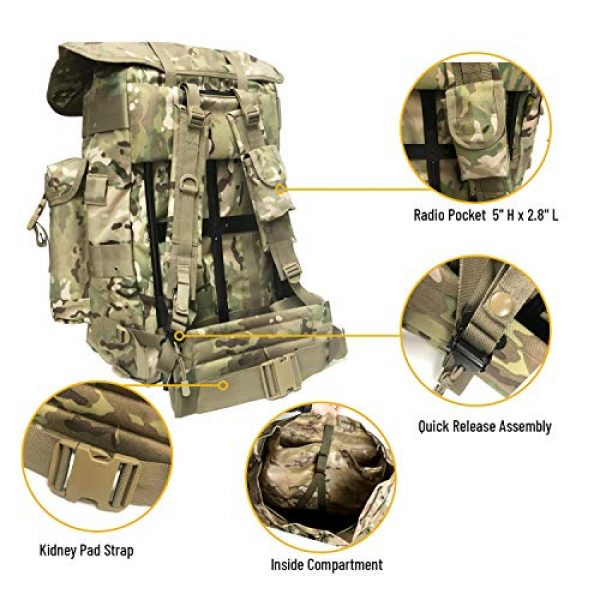 MT Tactical Backpack 3 Military Rucksack Alice Pack Army Backpack and Butt Pack