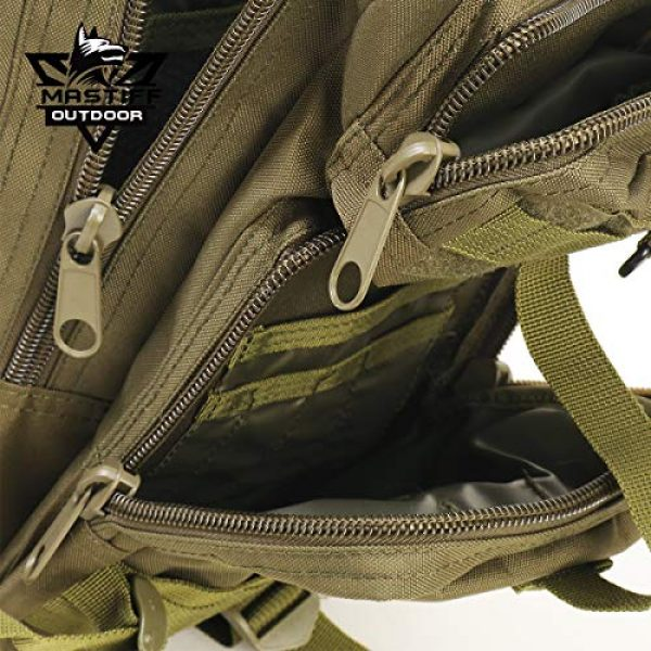 Mastiff Outdoor Tactical Backpack 7 Military Tactical Pack Backpack Army Molle Bug Out Bag Small Rucksack Outdoor Hiking Camping Trekking Hunting
