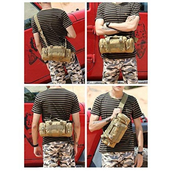 FAMI Tactical Backpack 6 FAMI Fanny 3P Military Tactical Pouch Backpack Range Bags Molle attachments Pouch Small EDC Sling Pack Hand Carry Bag