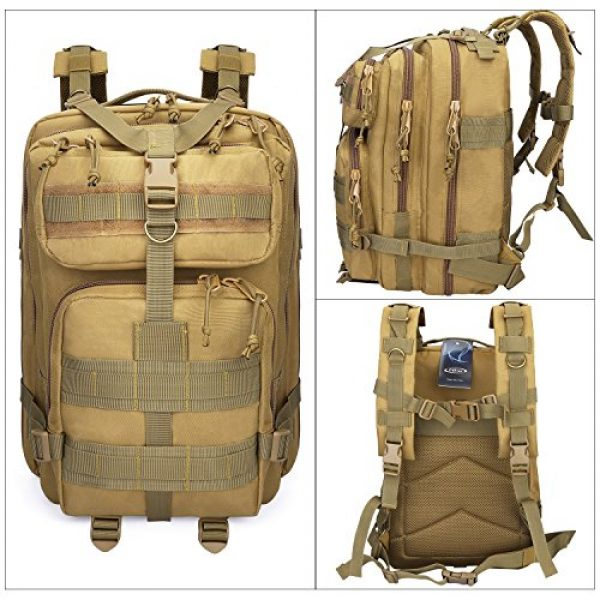 G4Free Tactical Backpack 3 G4Free Tactical Shoulder Backpack Military Survival Pack Army Molle Bug Out Bag Surplus Backpack 35L