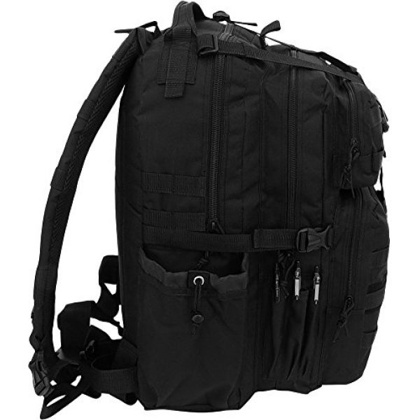 NPUSA Tactical Backpack 6 Mens Multicam Molle 2L Hydration Ready Sling Bag with Keychain Compass or Key Ring Carabiner+ 2 Zipper Pulls