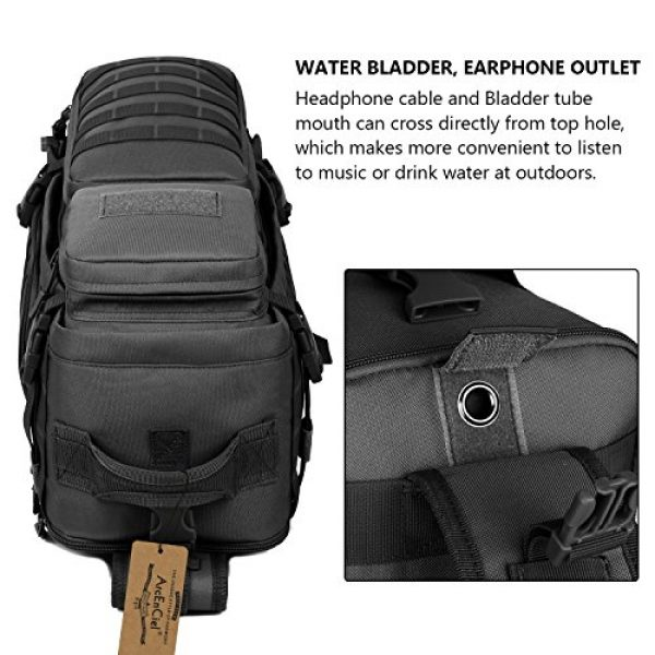 ArcEnCiel Tactical Backpack 7 ArcEnCiel Tactical Sling Pack Military Molle Chest Crossbody Shoulder Bags With Patch