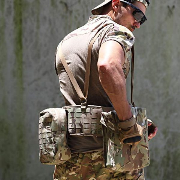 MT Tactical Backpack 7 MT Military MOLLE Medium Rucksack Hydration System Attached with IFAK Pouch and Assault Pack