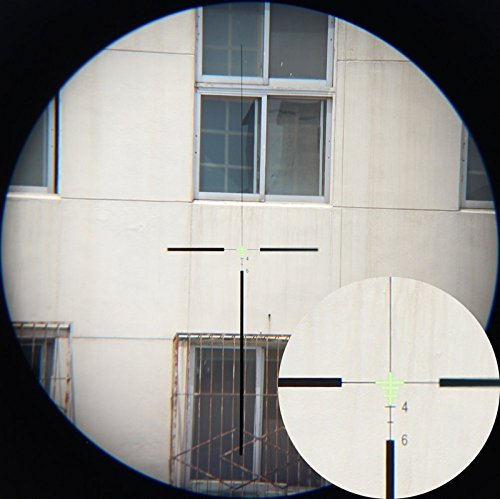 CL-SPORTS Rifle Scope 4 CL-SPORTS Acog 4x32 Green Fiber Scope Dual Illuminated Dot .223 Ballistic Reticle Rifle Scope