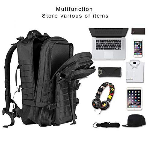 Himal Tactical Backpack 6 Himal Military Tactical Backpack - Large Army 3 Day Assault Pack Molle Bag Rucksack,40L,Black