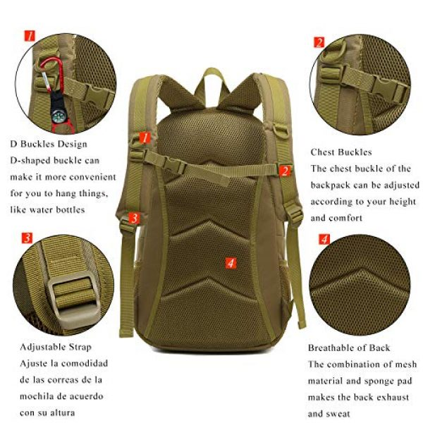 RUI NUO Tactical Backpack 6 RUI NUO 35L Military Backpack Tactical Backpack Army Backpack MOLLE Assault Backpack Tactical Combat Backpack Emergency Bag for Hunting Hiking Camping & Outdoor Activity