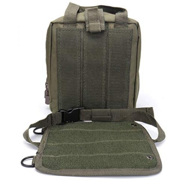 ASEEBY Tactical Pouch 5 ASEEBY First Aid Kit Utility MOLLE Pouch Bag Rip-Away Tactical Bag Compact Accessory Tool Carrier Pocket for Military Advanture Outdoor Camping