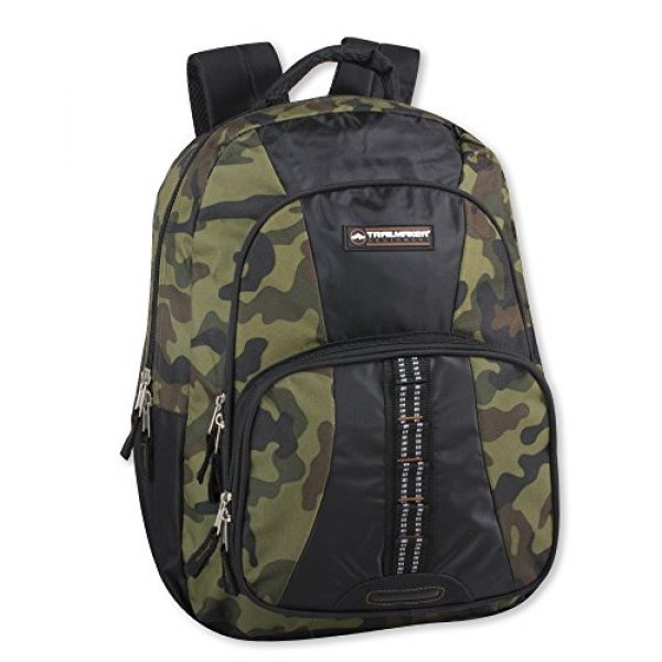 Trailmaker Tactical Backpack 1 Trail maker Tactical Camo Backpack for Boys, Girls, Men, Women for School and Travel (Green Camo)