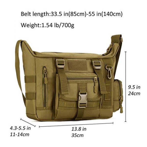 ArcEnCiel Tactical Backpack 6 ArcEnCiel Tactical Messenger Bag Men Military MOLLE Sling Shoulder Pack with Patch