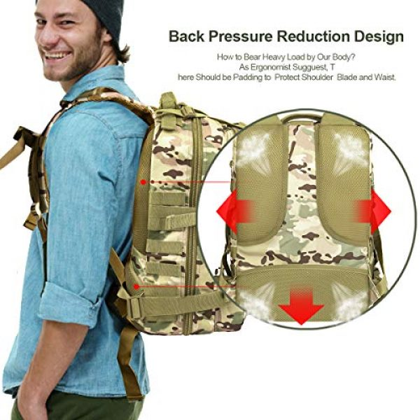 CVLIFE Tactical Backpack 2 CVLIFE Military Tactical Backpack Army 3 Day Assault Pack Molle Bag EDC Rucksack