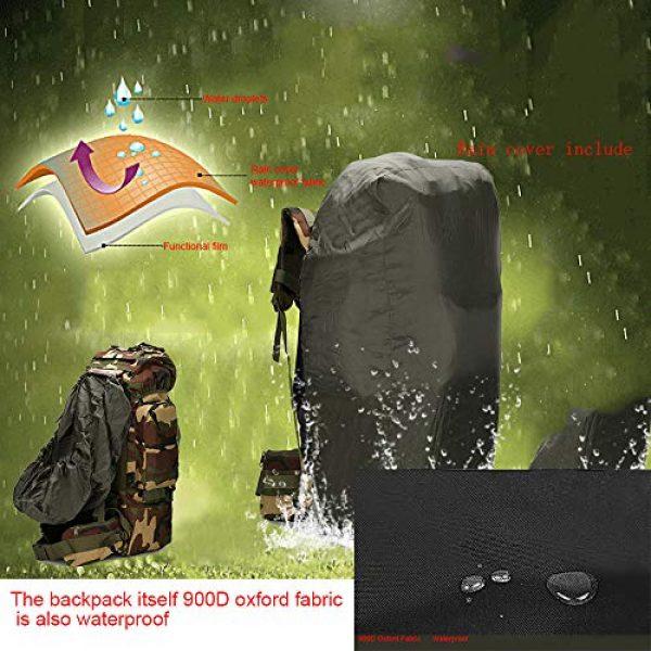 Suoki Tactical Backpack 7 Molle Backpack 65L Waterproof Internal-Frame Hiking Camping Rucksacks With Rain Cover