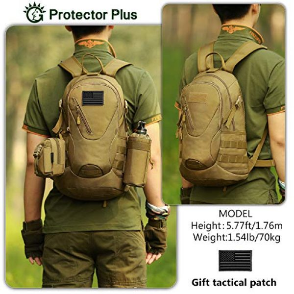 Protector Plus Tactical Backpack 3 Protector Plus Tactical Motorcycle Backpack Small Military MOLLE Cycling Hydration Daypack (Patch Included)