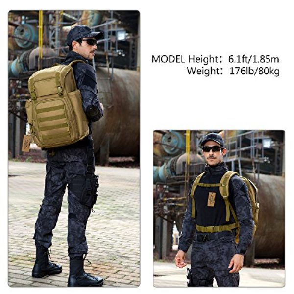 ArcEnCiel Tactical Backpack 2 ArcEnCiel Tactical Backpack Military Army Shoes Bags Daypack Assault Pack Bug Out Bag Molle Rucksack - Rain Cover Included