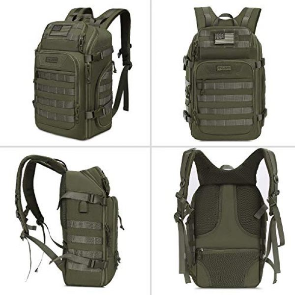MOSISO Tactical Backpack 6 MOSISO 30L Tactical Backpack, Military Daypack 3 Day Assault Molle Rucksack Bag