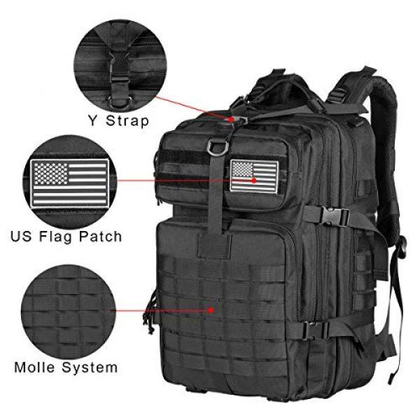 Himal Tactical Backpack 3 Himal Military Tactical Backpack - Large Army 3 Day Assault Pack Molle Bag Rucksack,40L,Black