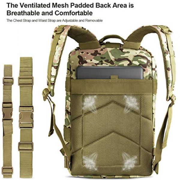 NOOLA Tactical Backpack 3 NOOLA Military Tactical Backpack Large Army 3 Day Assault Pack Molle Bag Rucksack