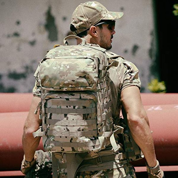 MT Tactical Backpack 6 MT Military FILBE Assault Pack with Assault Pouch, Army Tactical Rucksack Backpack Multicam