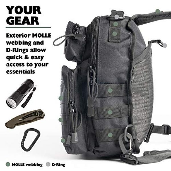 Whiskey Woods Outdoors Tactical Backpack 4 Whiskey Woods Outdoors Military Tactical EDC Sling Bag Molle Shoulder Diaper backpack