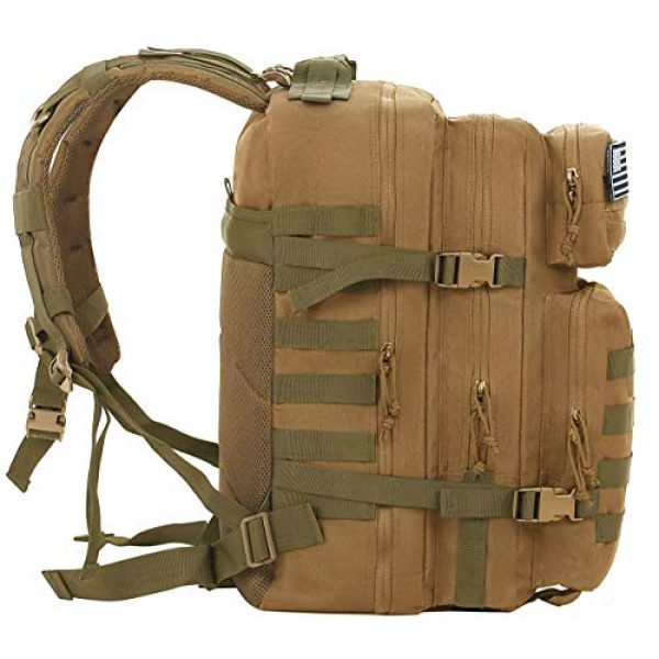 Luckin Packin Tactical Backpack 4 Luckin Packin Tactical Backpack,Military Backpack 45L with Tactical Sling Bag Khaki
