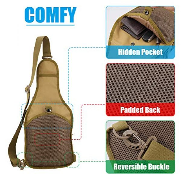 Gisdanchz Tactical Backpack 4 Gisdanchz Outdoor Tactical Molle Bag Military Backpack Sling Crossbody Shoulder Bags for Men Women