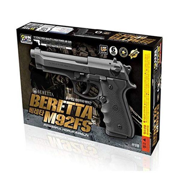 GUN STORM Airsoft Pistol 1 GUN STORM Beretta M92FS Plastic Toy BB Pistol, Powerful Hopup Airgun, Black