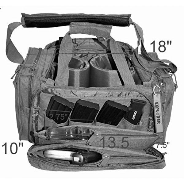 Explorer Tactical Backpack 5 EXPLORER Backpack + Range Bag with Large Padded Deluxe Tactical Divider and 9 Clip Mag Holder - Rangemaster Gear Bag (Brown Tan Range Bag)