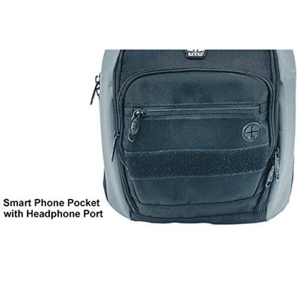 UTG Tactical Backpack 5 UTG Vital Chest Pack/Shoulder Sling Bag,Black/Gun Metal