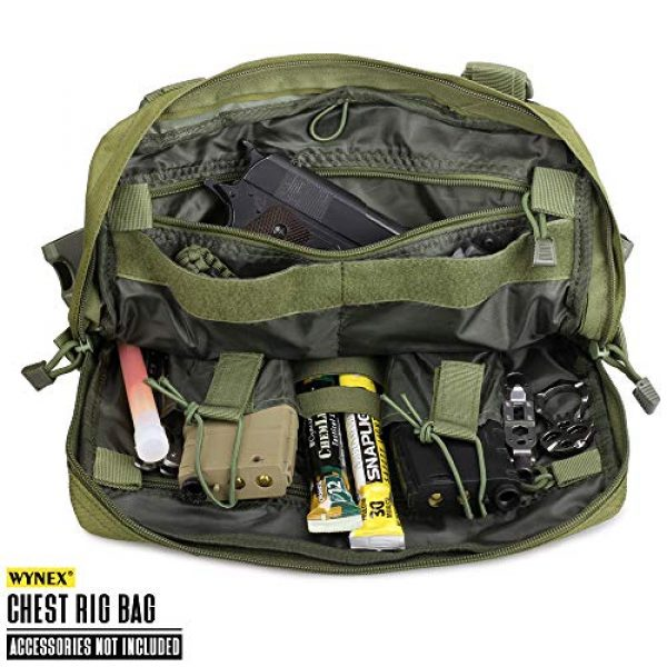 WYNEX Tactical Backpack 3 WYNEX Tactical Chest Rig Bag, Recon Kit Bags Combat EDC Front Pouch for Wargame
