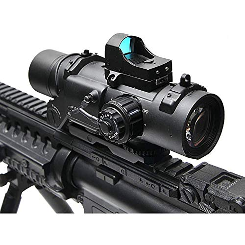 TTHU Rifle Scope 5 TTHU Rifle Scope 4X Fixed Dual Purpose Scope with Mini Red Dot Scope Red Dot Sight for Rifle Hunting Shooting
