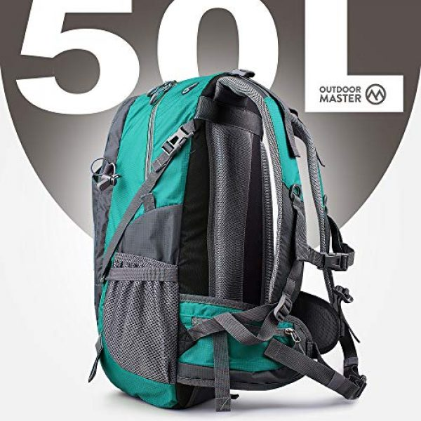 OutdoorMaster Tactical Backpack 2 OutdoorMaster Hiking Backpack 45L - Travel Carry-On Backpack w/Waterproof Cover