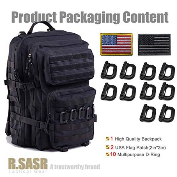 R.SASR Tactical Backpack 4 Upgrade Tactical Military Molle Backpack Army Waterproof Backpack.