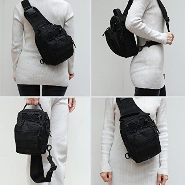 Novemkada Tactical Backpack 6 Tactical Shoulder Bag,1000D Outdoor Military Sling Daypack Backpack