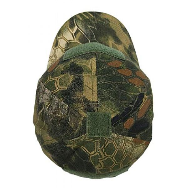 DOngRWF Tactical Hat 3 DOngRWF Outdoor Sport Military Tactical Cap, Army Hat Hunting Camouflage Strip Type Loop Behind Baseball Cap Include 3 Pieces Tactical Military Patches