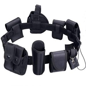 abcGoodefg Tactical Belt 1 abcGoodefg Modular Equipment System Security Utility Tactical Duty Belt with 9 Components Pouches Bags Holster Gear for Law Enforcement Guard Security Hunting