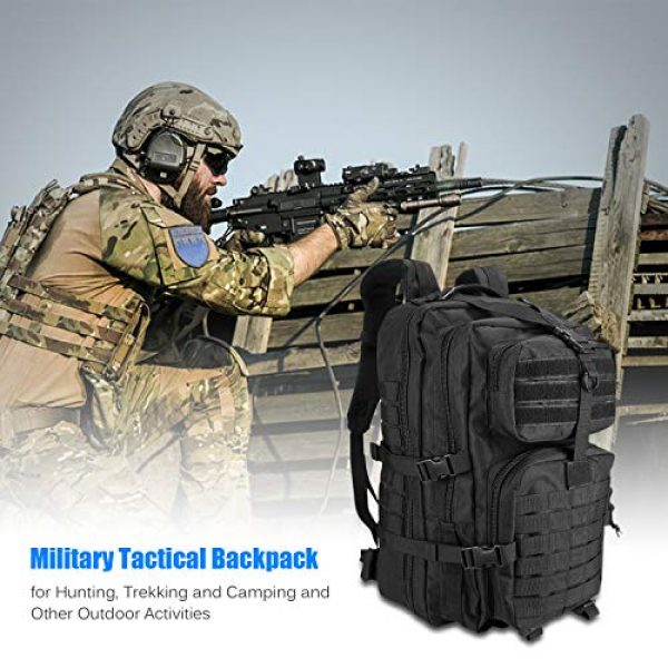 ProCase Tactical Backpack 2 ProCase Military Tactical Backpack, 48L Large Rucksack 3 Day Outdoor Army Assault Molle Pack Go Bag Backpacks -Black