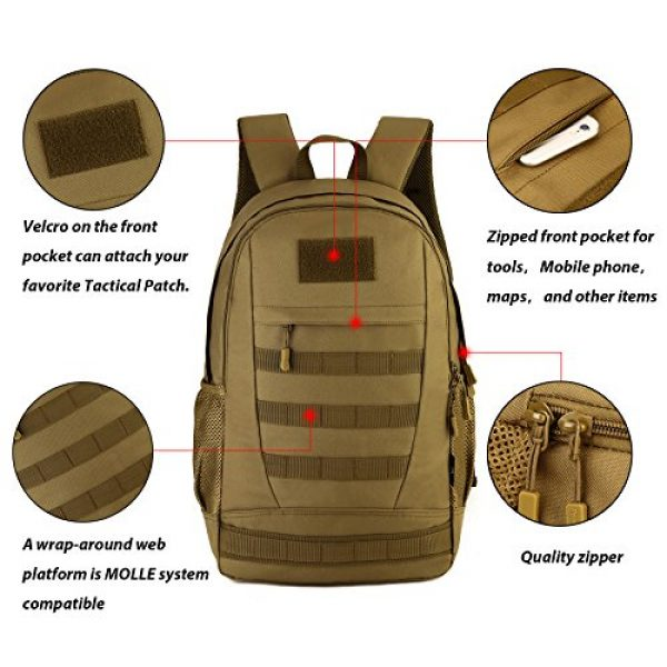 ArcEnCiel Tactical Backpack 2 ArcEnCiel Motorcycle Backpack Tactical Military Bag Army Assault Pack Rucksacks with Patch - Rain Cover Included