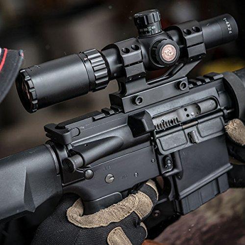 TRUGLO Rifle Scope 6 TRUGLO TRU-Brite 30 Series 1-6 X 24mm Dual-Color Illuminated-Reticle Rifle Scope with Mount, Matte Black, 1-6 x 24mm/40mm/30mm (TG8516TL)