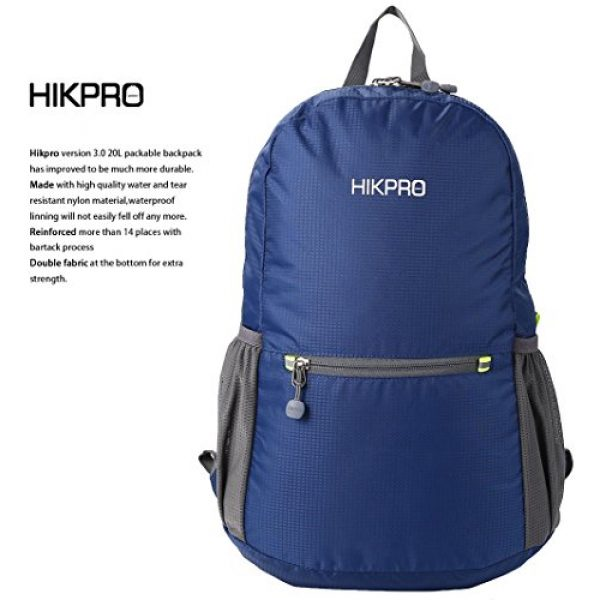 HIKPRO Tactical Backpack 2 HIKPRO 20L - The Most Durable Lightweight Packable Backpack, Water Resistant Travel Hiking Daypack for Men & Women