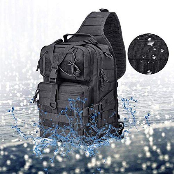HAOMUK Tactical Backpack 4 Tactical Sling Bag Pack Military Rover Shoulder Sling Backpack EDC Molle Assault Range Bag