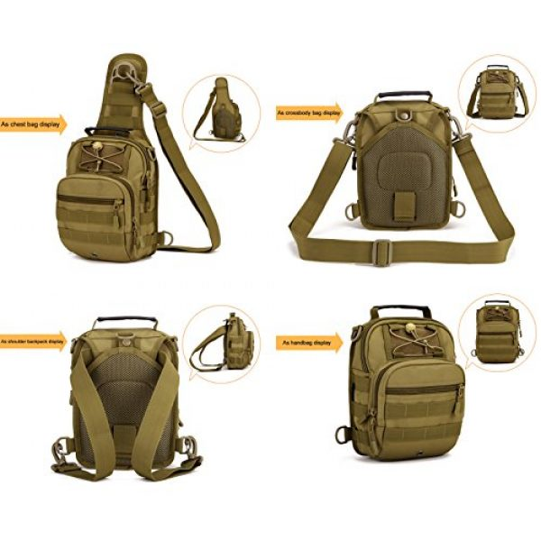 Huntvp Tactical Backpack 3 Huntvp Tactical Military Sling Chest Daypack Backpack for Hunting, Camping and Trekking