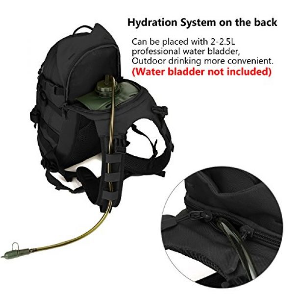 ArcEnCiel Tactical Backpack 5 ArcEnCiel 25L Tactical Motorcycle Cycling Backpack Military Molle Pack Helmet Holder with Patch - Rain Cover Included