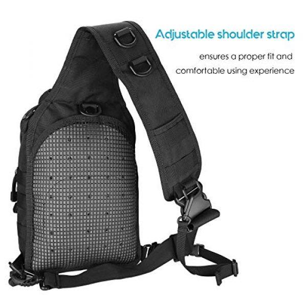 ProCase Tactical Backpack 6 ProCase Tactical Sling Bag Pack with Pistol Holster, Military Rover Sling Shoulder Backpack Outdoor Sport Daypack for Hunting, Trekking and Camping -Black