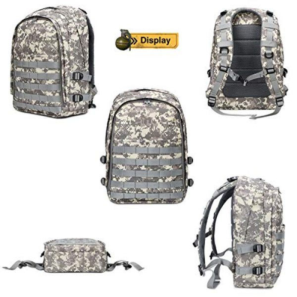 Snugtown Tactical Backpack 2 Level 3 Backpack, Waterproof Camouflage Laptop Backpack, Military Tactical Assault Backpack Rucksack Molle Daypack for Hiking, Climbing, Camping (Camouflage Dusty)