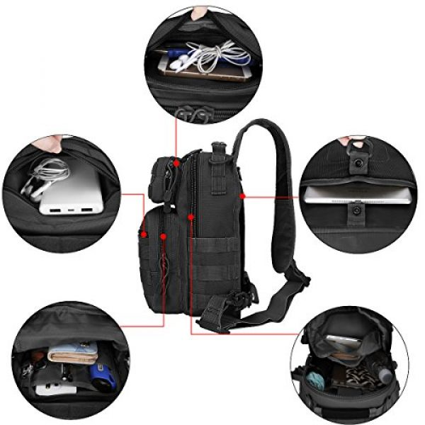 G4Free Tactical Backpack 6 G4Free Tactical Sling Bag Backpack Military Rover Shoulder Sling Pack Molle EDC Small Crossbody Chest Pack