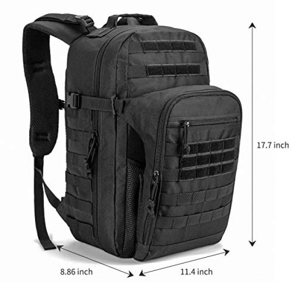 SHARKMOUTH Tactical Backpack 6 SHARKMOUTH Tactical Backpack, Large Army 3 day Assault Pack Bag Rucksack, 42L Military MOLLE Backpacks