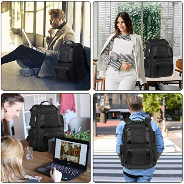MATEIN Tactical Backpack 7 Laptop Backpack,17 Inch Travel Laptop Backpack for Men Women,Professional Business Carry on Backpack for Notebook, Large Backpack Tsa Friendly Water Resistant High School College Computer Bag, Black