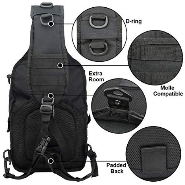 hopopower Tactical Backpack 3 Tactical Sling Bag Pack Military Shoulder Backpack Everyday Carry Bag,20L
